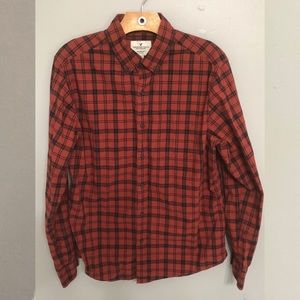 American Eagle Men's Flannel Shirt Red and Black